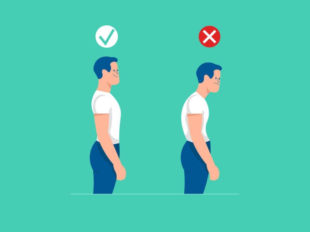 An Illustration of how a good posture for good health should look like