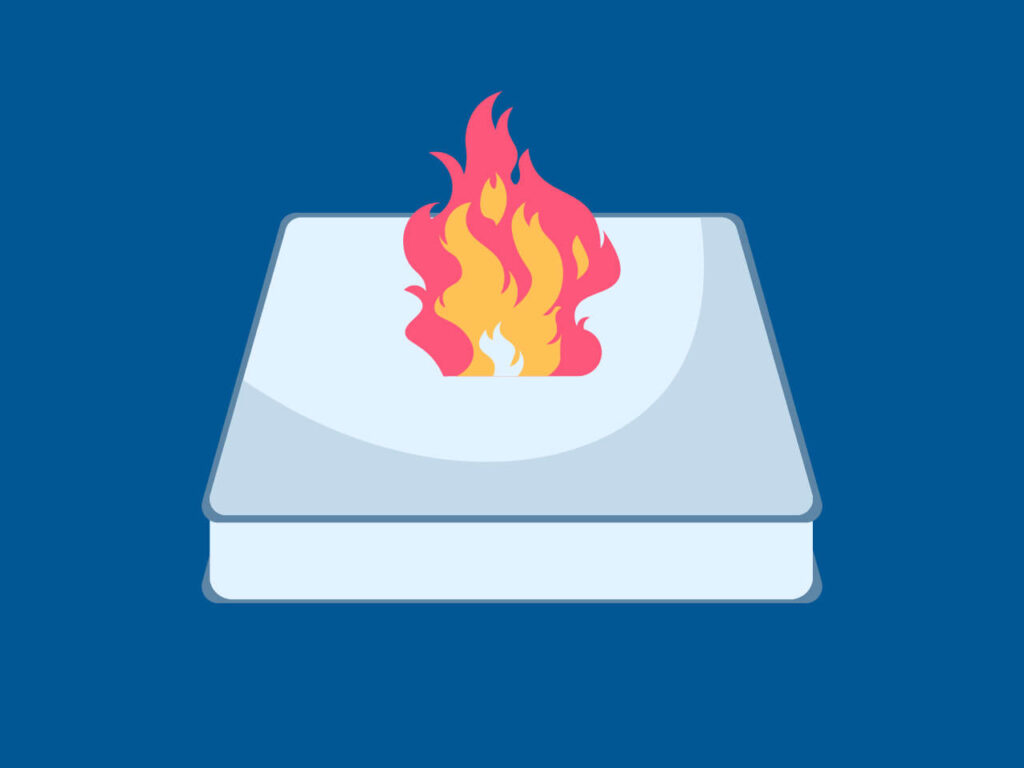 Burning mattress which points out why hot mattress solutions are required