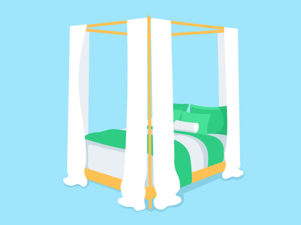 An illustration showing how a Soundproof bed might look like